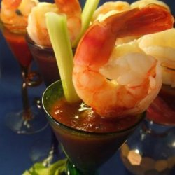 Shrimp With Spicy Bloody Mary Sauce recipe