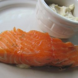 Slow Roasted Brown Sugar and Dill Cured Salmon