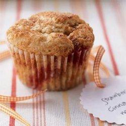 Low Fat Strawberry Cinnamon Muffins