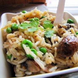 Pea and Mushroom Risotto (Vegan)