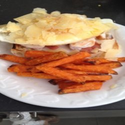 Open Chicken and Egg Sandwich