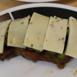 Spicy Pepper Jack Smothered Sirloin Steaks