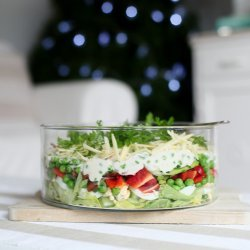 Layered Christmas Salad