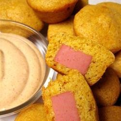 Mini Southwestern Corn Pup Muffins with Fiesta Dipping Sauce