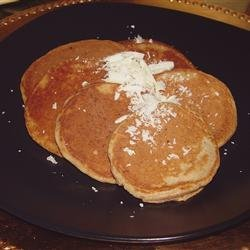 Banana-White Chocolate Pancakes