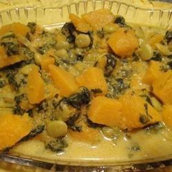 Pumpkin, Butter Bean, and Spinach Curry