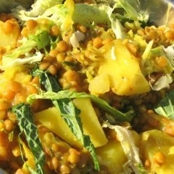 Lentils With Potato and Cabbage