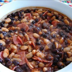 Black and White Barbecued Beans