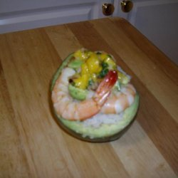 Drunken Pirate Shrimp With Tropical Salsa