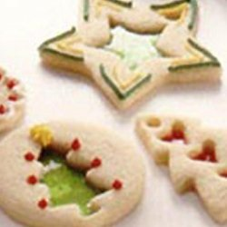 Holiday Stained Glass Cookies