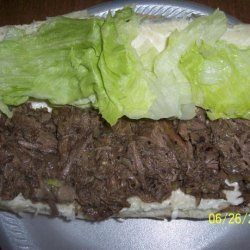 Crock-Pot Shredded Beef Sandwiches recipe