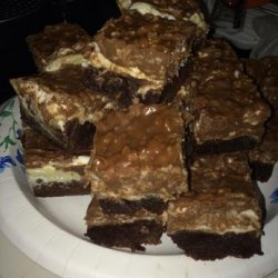 Peanut Butter Marshmallow Crunch Brownies