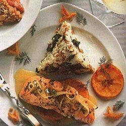 Roasted Salmon With Orange-Herb Sauce