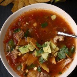 Easy Tortilla Soup W/ Chicken