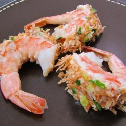 Coconut Shrimp With Exotic Cream Filling