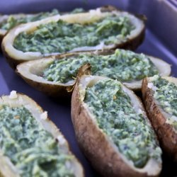 Potato and Spinach Bake