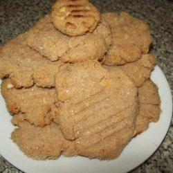 Chewey but Not Goey Peanut Butter Cookies