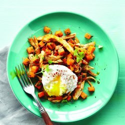 Poached Eggs W. Chicken Hash