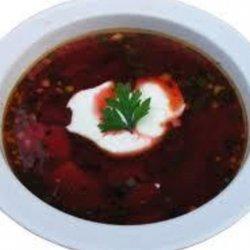 Cold Beet Borscht (Soup)