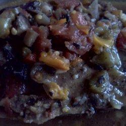 Peppered Pork Chops W/Portabella