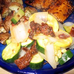 Steamed Squash Medley with Sun-Dried Tomatoes