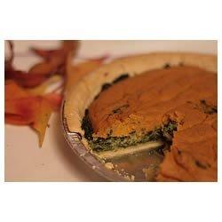 Spinach Pumpkin Swirl Quiche