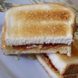 Peanut Butter, Bacon and Honey Sandwich recipe
