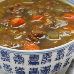 Brown Rice and Lentil Soup