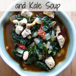 Pork White Bean Kale Soup