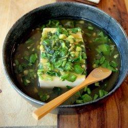 Hot Tofu in Spinach Soup