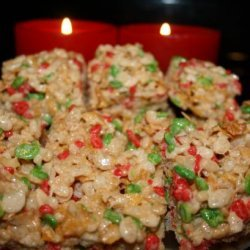 Christmas Rice Krispies Squares