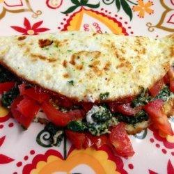 Spinach Egg White Omelet