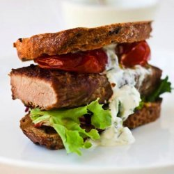 Greek Style Steak Sandwiches