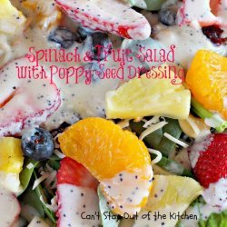 Fruit With Poppy Dressing