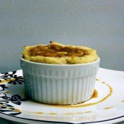 A Healthier Banana's Foster Pseudo Bread Pudding