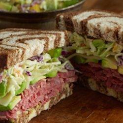 Corned Beef and Killarney Avocado Slaw Sandwich