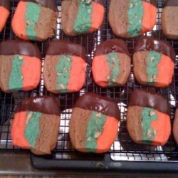 Aunt Sue's Holiday Chocolate Pecan Neapolitan Cookies