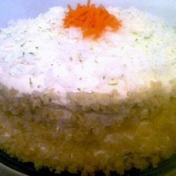 Tropical Carrot Layer Cake With Island Icing