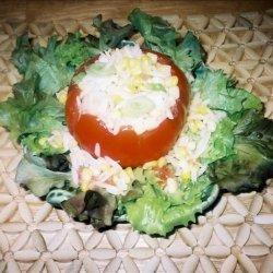 Orzo-Corn Salad in Tomato Shells