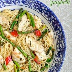 Lemon Chicken With Spaghetti