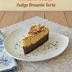 Orange Brownie Torte