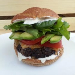 Chipotle Ranch Black Bean Burgers #RSC