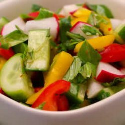 Cucumber-Pepper-Radish Salad