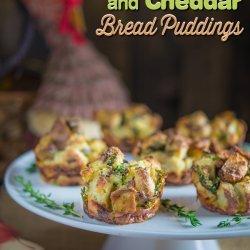 Apple-Cheddar Bread Pudding