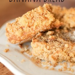 Banana Sour Cream Bread W/ Crumbly Topping