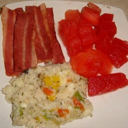 Quick N Easy Grits and Veggie Omelet