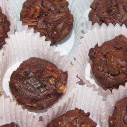 Fudge-Topped Triple Chocolate Brownies