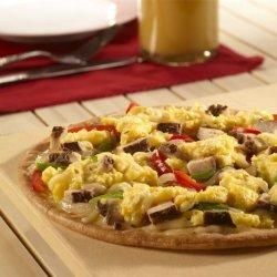 Gluten Free Jerk Turkey Breakfast Pizza
