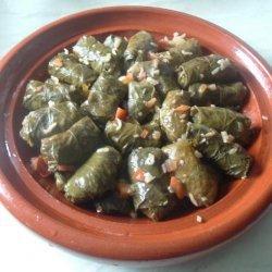 Dolma Dalya - Algerian Tomato & Pepper Stuffed Vine Leaves