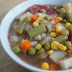 Whatever Floats Your Boat Vegetable Soup -- Leftovers!